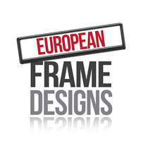 European Sized Number Plate Frames