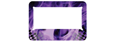 Purple Chequered Flame - MC