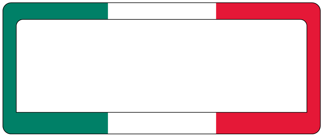 Italian Flag Picture Frame | Adsleaf.com