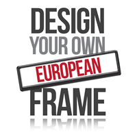 Personalised European Number Plate Frames