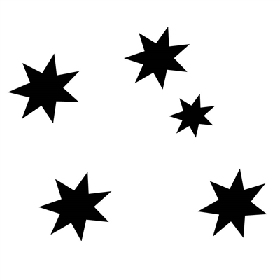 Southern Cross Decal