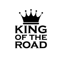 King of the Road Decal
